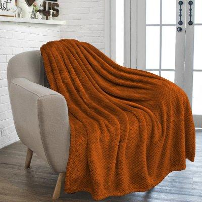 Κουβέρτα Fleece Μονή Rolin Brown Lino Home