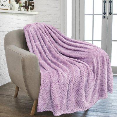 Κουβέρτα Fleece Μονή Rolin Purple Lino Home
