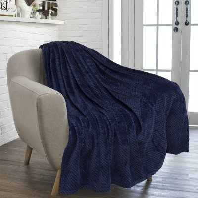 Κουβέρτα Fleece Υπέρδιπλη Rolin Blue Lino Home