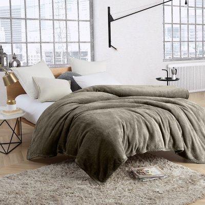 Κουβέρτα Βελουτέ Υπέρδιπλη Camari Gray Lino Home