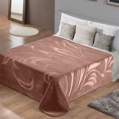 Κουβέρτα Βελουτέ Υπέρδιπλη Maralok Pink Lino Home