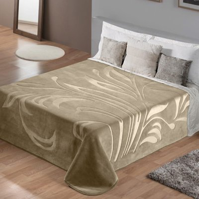 Κουβέρτα Βελουτέ Υπέρδιπλη Maralok Mocca Lino Home