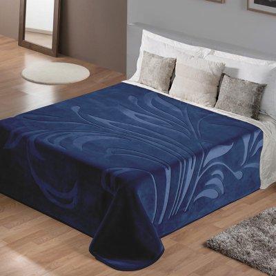 Κουβέρτα Βελουτέ Υπέρδιπλη Maralok Blue Lino Home