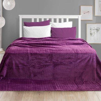Κουβέρτα Fleece Υπέρδιπλη Ismak Purple Lino Home