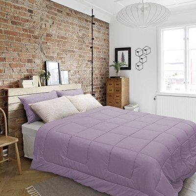 Παπλωματοθήκη Μονή Emb Karen Dark Purple Lino Home