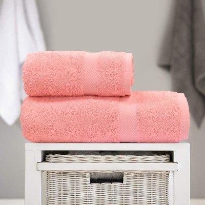 Σετ Πετσέτες Μπάνιου (2τμχ) Dina Pink Lino Home