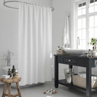Κουρτίνα Μπάνιου (180x200) Solid White Lino Home