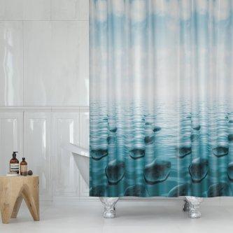 Κουρτίνα Μπάνιου (180x200) Stone Petrol Lino Home