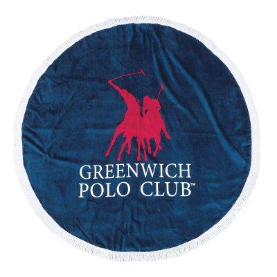 Στρογγυλή Πετσέτα Θαλάσσης 2824 Greenwich Polo Club