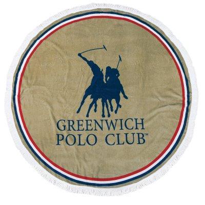 Στρογγυλή Πετσέτα Θαλάσσης 2825 Greenwich Polo Club