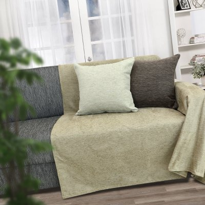 Ριχτάρι Πολυθρόνας (180x180) Bianca Cream Lino Home