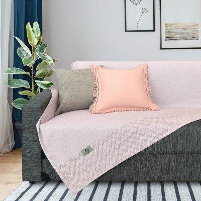 Ριχτάρι Διθέσιου (180x250) Monca Old Pink Lino Home