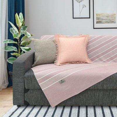 Ριχτάρι Πολυθρόνας (180x180) Sonia Light Pink Lino Home