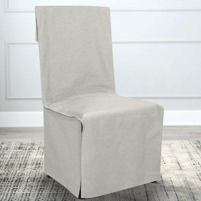 Κάλυμμα Καρέκλας Μονόχρωμο Andros Εκρού Lino Home