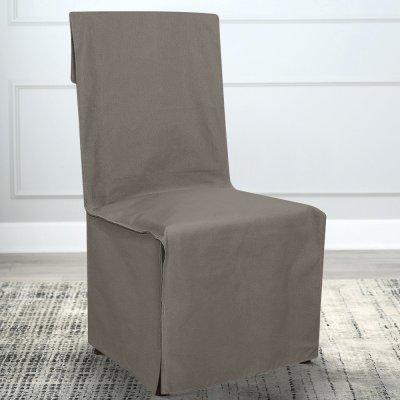 Κάλυμμα Καρέκλας Μονόχρωμο Andros Γκρι Lino Home