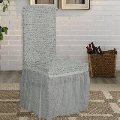 Κάλυμμα Καρέκλας Lycra Γκρι Lino Home
