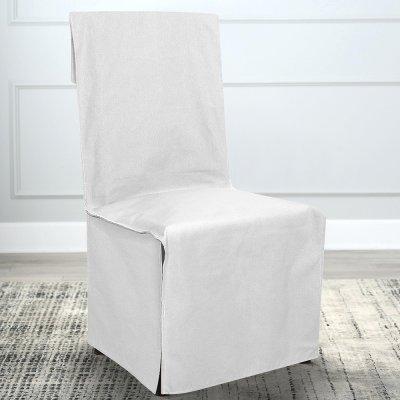 Κάλυμμα Καρέκλας Μονόχρωμο Mykonos White Lino Home