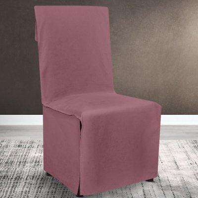 Κάλυμμα Καρέκλας Μονόχρωμο Renas 212 Dpink Lino Home