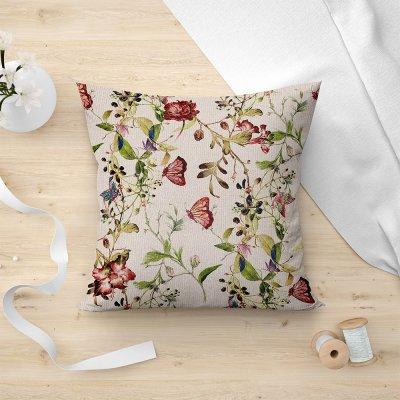 Διακοσμητική Μαξιλαροθήκη Fluture 901 Beige Lino Home