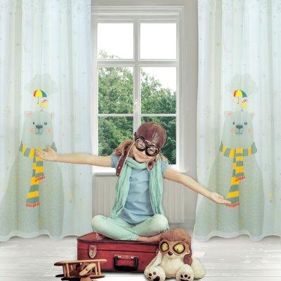 Παιδική Κουρτίνα (140x280) Με Κρίκους 2066 Das Home