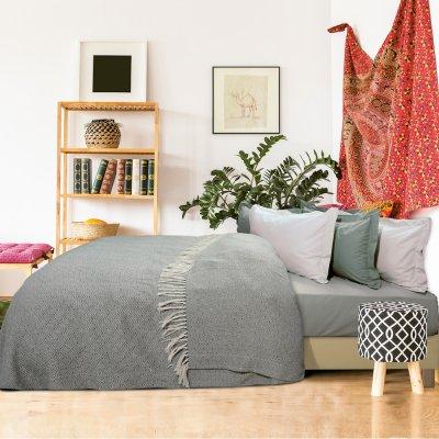 Κουβέρτα Πικέ Υπέρδιπλη Με Κρόσια 384 Das Home