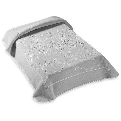 Κουβέρτα Βελουτέ Κούνιας 520 Gray Belpla