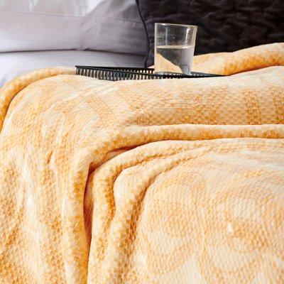 Κουβέρτα Βελουτέ Υπέρδιπλη Smooth Orange Palamaiki
