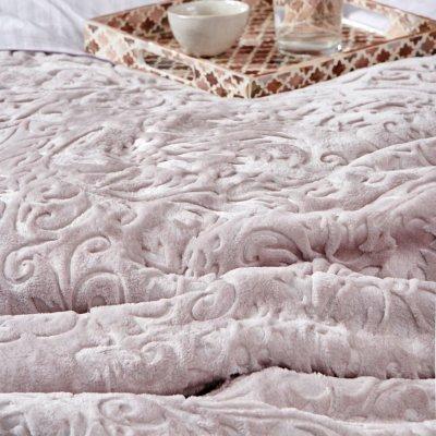 Κουβέρτα Βελουτέ Υπέρδιπλη Daphne Lilac Palamaiki