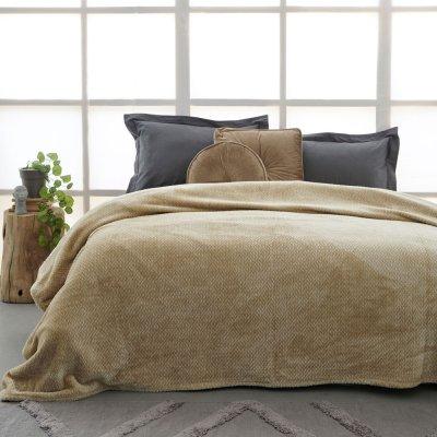 Κουβέρτα Fleece Μονή Chloee Sand Palamaiki