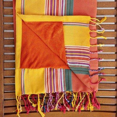 Πετσέτα/Παρεό Θαλάσσης Mahabali Orange Nima Home