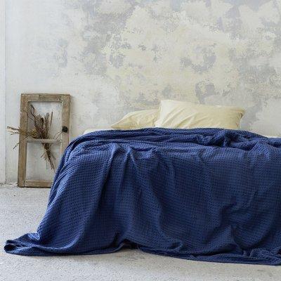 Κουβέρτα Πικέ Υπέρδιπλη Habit Navy Blue Nima Home