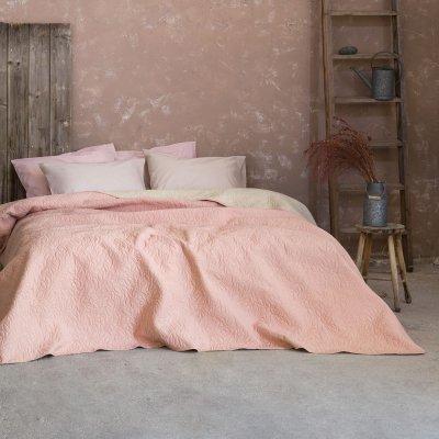 Κουβερλί Γίγας Foglie Pink/Ivory Nima Home