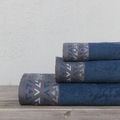 Σετ Πετσέτες Μπάνιου (3τμχ) Imane Blue Kocoon