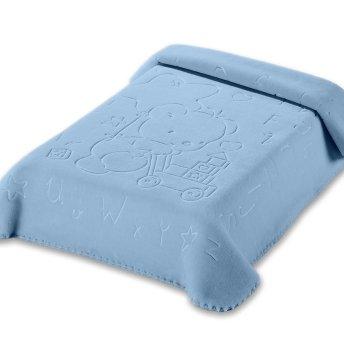 Κουβέρτα Βελουτέ Κούνιας 521 Blue Belpla