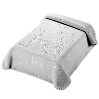 Κουβέρτα Βελουτέ Κούνιας 521 Gray Belpla