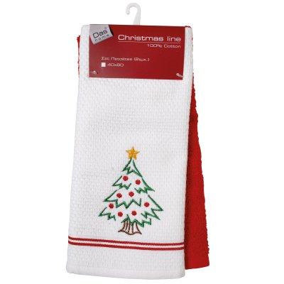 Σετ Χριστουγεννιάτικα Ποτηρόπανα (2τμχ) 0601 Das Home
