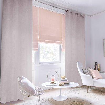 Κουρτίνα (150x260) Με Κρίκους Salome Pink Lino Home