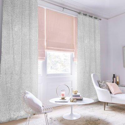 Κουρτίνα (150x260) Με Κρίκους Cuervo Gray Lino Home