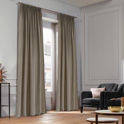 Κουρτίνα (140x235) Με Τρέσα Micro Taupe Lino Home