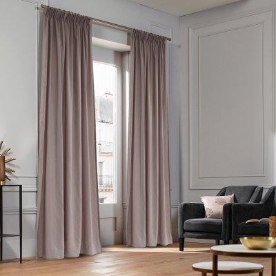 Κουρτίνα (140x235) Με Τρέσα Micro Dusty Lilac Lino Home