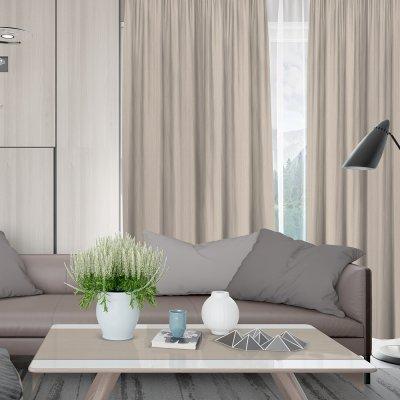 Κουρτίνα (140x280) Με Τρέσα Loneta C000 Ivory Lino Home