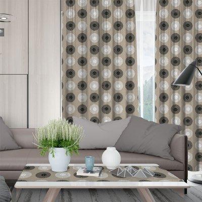 Κουρτίνα (150x275) Με Τρέσα Solei 850 Gray Lino Home