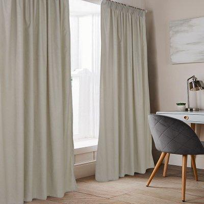 Κουρτίνα (140x235) Με Τρέσα Karen Beige Lino Home