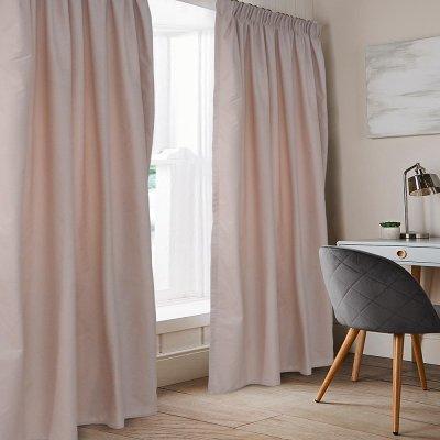 Κουρτίνα (140x235) Με Τρέσα Emb Karen Old Rose Lino Home