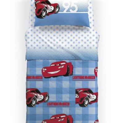 Κουβερλί Ημίδιπλο Disney Cars 95 Azzuro Palamaiki