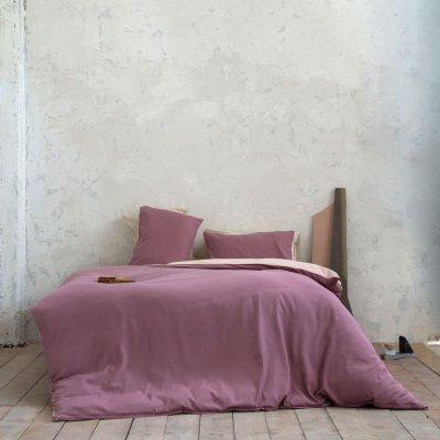Σετ Παπλωματοθήκη Μονή Abalone Cassis/Powder Pink Nima Home