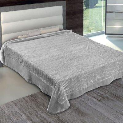 Κουβέρτα Βελουτέ Υπέρδιπλη 801 Gray Adam Home