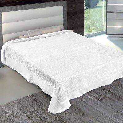 Κουβέρτα Βελουτέ Υπέρδιπλη 801 White Adam Home