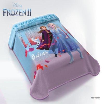 Κουβέρτα Βελουτέ Μονή Frozen Disney Belpla