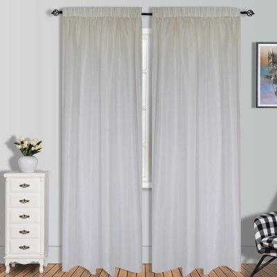 Κουρτίνα (140x280) Με Τρέσα Gazel White Lino Home